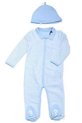 Guess Capó + Pijama Bébé Garçon P84G15 Bleu Ciel Rayé
