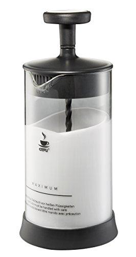 GEFU 16370 Milchaufschäumer Antonio - Milchschäumer mit integriertem Ausgießer für heiße oder kalte Milch