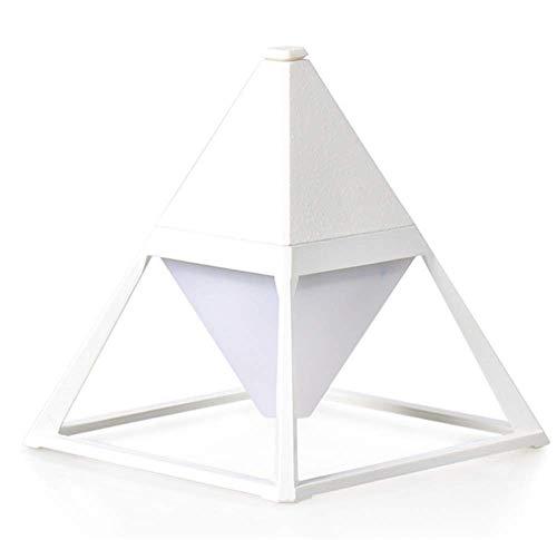 QYL Led-bureaulamp, driehoekig, met touch-bediening, dimbaar, tafellamp met USB-oplaadkabel, nachtlampje voor buiten