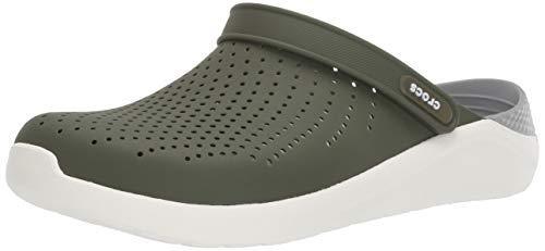 Crocs Unisex LiteRide Clog Clogs, Army Green/White, 45/46 EU