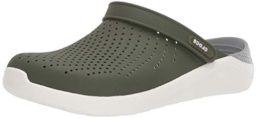 Crocs Unisex LiteRide Clog Clogs, Army Green/White, 45/46 EU