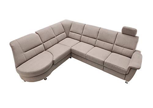 lifestyle4living Ecksofa mit Relaxfunktion in Grau, 4-Sitzer Relaxsofa, USB, Microfaser-Stoff/Federkern-Polsterung | Gemütliche Relax-Couch in modernem Design