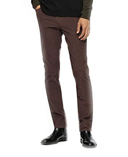 Calvin Klein Men's Slim-Fit 5-Pocket Comfort Stretch Corduroy Pants, Chocolate Plum, 38x32