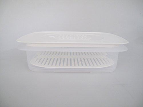 TUPPERWARE Cool`N Fresh 1,5 L Behälter + Frischegitter weiß + Klimadeckel