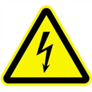 Aufkleber Warnung vor gefährlicher elektrischer Spannung gem. ASR A1.3 Folie selbstklebend 5cm sl, 6 Stück (Warnschild, Strom, Hochspannung) praxisbewährt, wetterfest