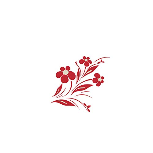 woopme Flower Design Wall Stickers for Living Kids Couple Bedroom Hall Home Decoration Printed Vinyl...
