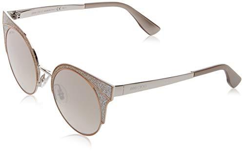 Jimmy Choo Damen ORA/S NQ 1KL 51 Sonnenbrille, Beige (Mtbeiglttrpd/Brown Smoke SLV)