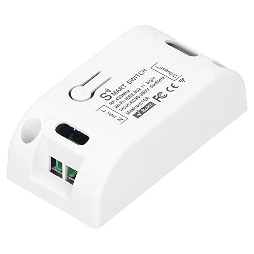 Interruptor WiFi, Interruptor de lámpara WiFi Tira de Luces LED Luz de Cinta Inteligente Interruptor de Control Remoto Enchufe Inteligente Controlador de luz WiFi para el hogar Bar