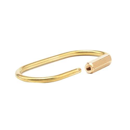 Morza Mehrzweck Karabiner Messing ovalen Schlüsselanhänger Keyring Außen Haken Wandern Campingausrüstung Gold-Schlüsselanhänger