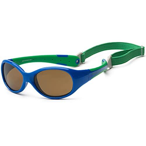 Gafas de sol para koolsun Baby Flex Joven 3–6años | Royal & Green | 100% protección UV | con desmontable Diadema | Optical Clas 1, cat. 3