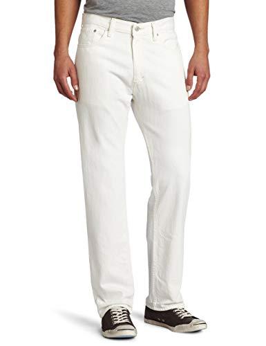 Levi's 505 Regular Fit - Jeans da Uomo Bianco Lucido 33W x 32L