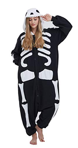 Pijama Onesie Adultos Mujer Cosplay Animal Disfraces Sleepwear Negro XL