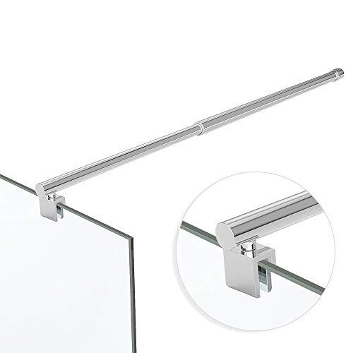 Haltestange Stabilisator Rohr Edelstahl Dusche Duschabtrennung HS11 / 700-1200mm für 6-10 mm Glasstärke Chrom ausziehbar