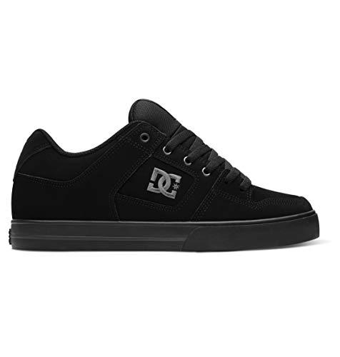 DC Men's Pure Skate Shoe, Black/Pirate Black, 9 D D US
