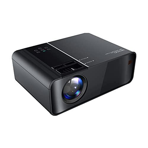 WWDKF Proyector, Proyector De Películas De Oficina En Casa De Alta Definición 1080P, Función De Proyección Básica, Conectar Disco U/VGA/HDMI/Decodificador,Negro