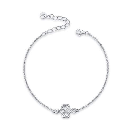 LUHE Sterling Silver Celtic Knot Bracelet Women's Good Luck For Women Bracelet