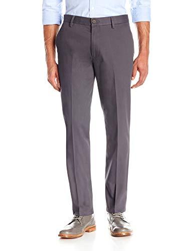 Amazon Brand - Goodthreads Men's Slim-Fit Wrinkle-Free Comfort Stretch Dress Chino Pant, Grey, 34W x 32L