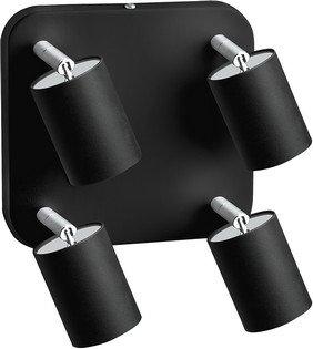 Plafondlamp van metaal, EYE SPOT, zwart, GU10, lichtladen, plafondlamp