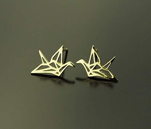 Ohrstecker Origami Vogel Stecker golden Ohrringe Juvelato