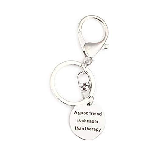 Un buen amigo es más barato que la terapia Llavero con sello...