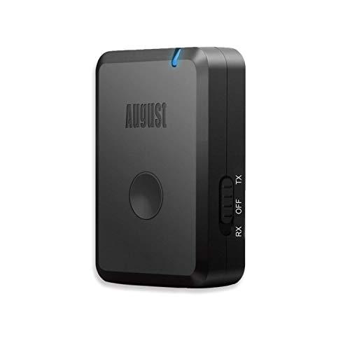 August MR260-2-in-1 Bluetooth Stereo Audio Transmitter/Receiver mit aptX Low Latency - Dual Modus Audio-Sender und Empfänger – Bluetooth für alle Audiogeräte