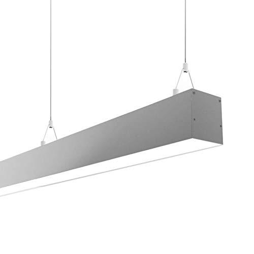 Lámpara colgante SERK, 70W, 208cm, TRIAC regulable, silver, Blanco neutro, regulable