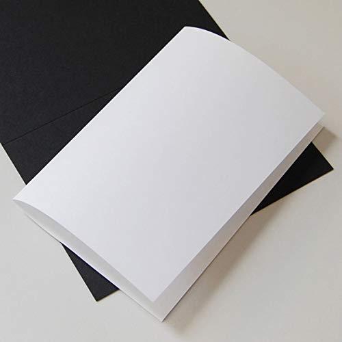 100 naturweiße Einlegeblätter 16,3 x 22,6 cm, Munken Lynx 90 g/qm (zum einmal Falten für Klappkarten 16,5 x 11,5 cm)