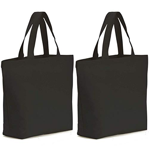Axe Sickle 2PCS Canvas Tote Bag Bottom Gusset 16 X 16 X 5 inch Heavy 12oz Tote Shopping Bag, Washable Grocery Tote Bag, Craft Canvas Bag, Black.
