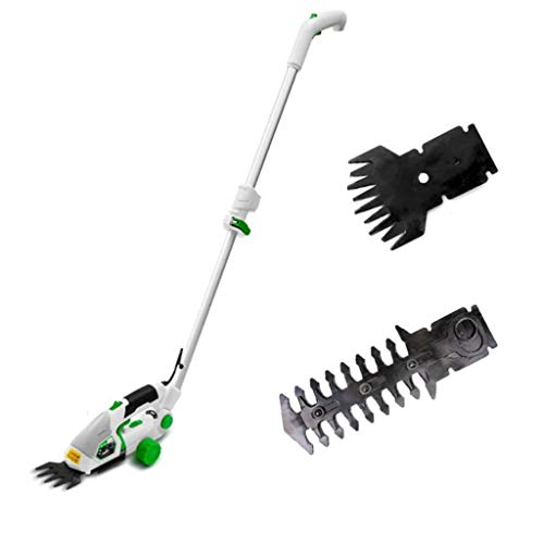 Best Review Of QAZWC-A1 2 in 1 Pro 7.2V Telescopic Cordless Hedge Trimmer Built in Lithium Ion Batte...