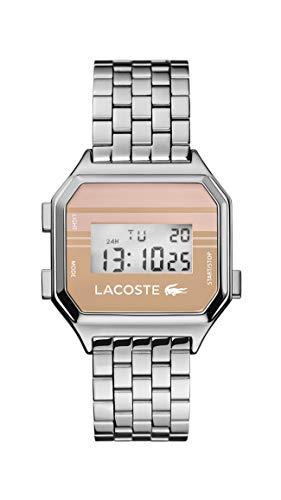 Lacoste Reloj Digital para Hombre de Cuarzo con Correa en Acero Inoxidable 02020136
