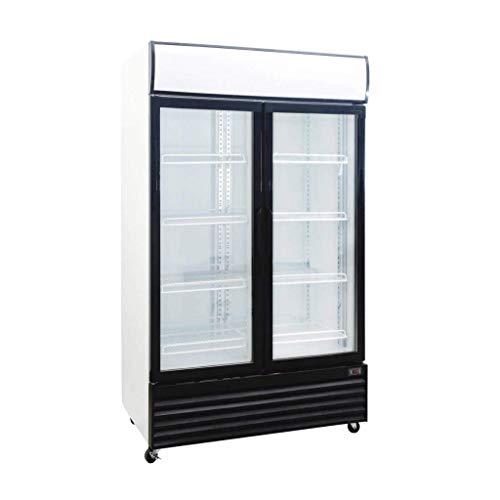 Procool Refrigeration Glass 2 Door Upright Display Beverage Cooler Merchandiser; 35 Cubic Ft., 45' Wide