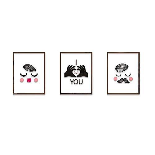 Chensd Autocollants muraux Bricolage Couples Photo Cadre Stickers muraux en Trois Dimensions Chambre lit Salon Autocollants Autocollant Salle de Mariage décorée Décoration d'intérieur (Size : Set-L)