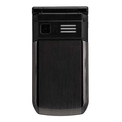 Dilwe E7 Teléfono Móvil Portátil para Personas Mayores, 32MB+32MB 100‑240V Teléfono Móvil Plegable con Teclas Grandes para los Ancianos, Dual Standby Teléfono Negro con Tapa(Negro)