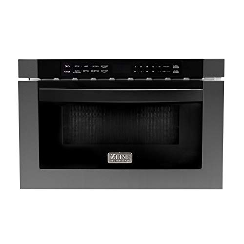 ZLINE 24' 1.2 cu. ft. Microwave Drawer in Black Stainless Steel