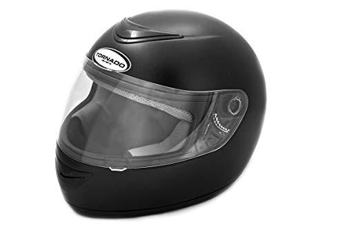 Saferide | Integralhelm Schwarz Matt XL 61-62 cm Helm Motorrad Quad Damen Herren Roller Gesichtsschutz Klapphelm Erwachsene Regenschutz Sturzhelm Motorradhelm Moped Mofa