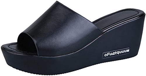 Chanclas para Mujer Verano 2018 PAOLIAN Playa Zapatos de Plataforma de Boca de Pescado Cuña Sandalias y Chanclas Flip-Flops Antideslizante Chanclas de Damas Zapatillas de Estar por casa