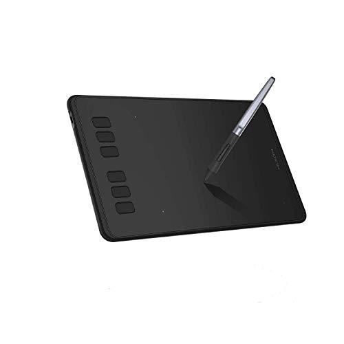 HUION Inspiroy H640P Grafiktablett 6.3 x 3.9 Zoll Drawing Tablet mit 8192 Druckstufen Batterielosem Stift Geeignet fürWindows, Android und Mac, Ideal für Home-Office