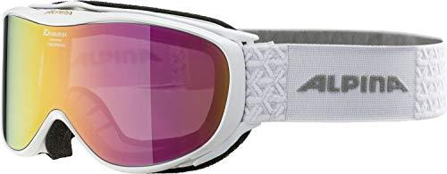ALPINA CHALLENGE 2.0 Skibrille, Unisex– Erwachsene, white, one size