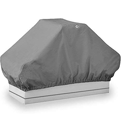 North East Harbor BSC-002 Seat Cover (Boat Back to Back Double Seat Storage Cover Gray Heavy Duty Water, Mildew, and UV Resistant Thick Polyester Fabric)