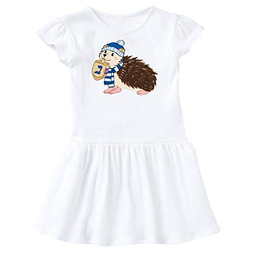 inktastic Hanukkah Hedgehog in Scarf and Hat in Toddler Dress 5-6 White 386a2