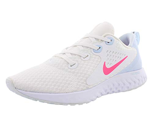 Nike Women's Legend React Running Shoes (White/Hyper Pink/Half Blue)(8.5 (B) US)