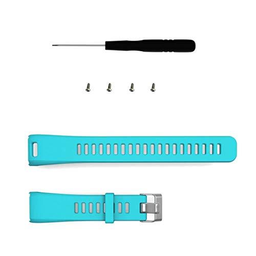 QWERBAM Reemplazo del Multicolor De Silicona Banda Correa Pulsera De Pulsera For La Muñeca del Deporte Accesorios Soporte For Smart Watch (Color : Teal, Size : L)