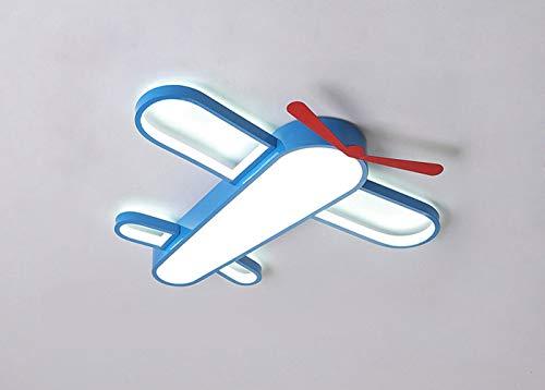 Lámpara LED de 36 W, color azul, iluminación de aviones, dibujos animados, lámpara de techo para habitación de los niños, lámpara de techo, regulable, lámpara de ojos