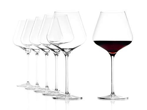 Stölzle Lausitz Burgundy Quatrophil Bordeaux 708 ml, 25 cm h, 6 unità