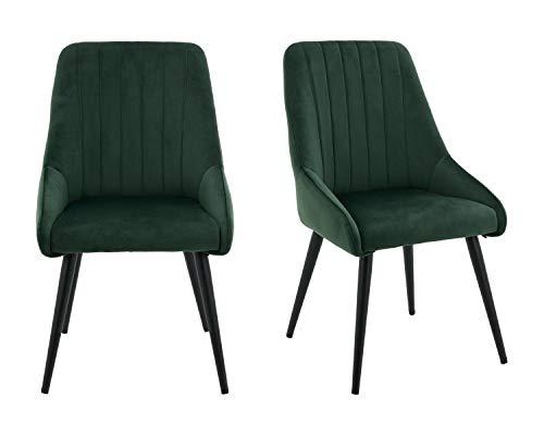 Hnnhome® - Set di 2 sedie da cucina con schienale alto, per sala da pranzo e salotto