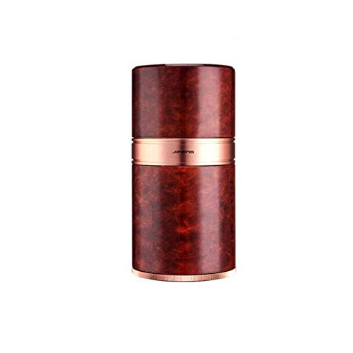 L.BAN Zigarettenetui, Travel Portable Cigar Tube Feuchtigkeitscreme Metall Zigarettenetui Luftbefeuchter Cuban Cigar Moisturizing Tube, Geschenk - 7 Sticks, langlebig