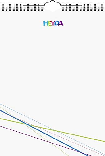 Heyda 2070471 Bastel-/Kreativkalender (13 Monatsblätter, A 4, Kalendarium immerwährend, Wire-O-Bindung mit Aufhänger, Deckblatt weiß, Monatsblätter) weiß