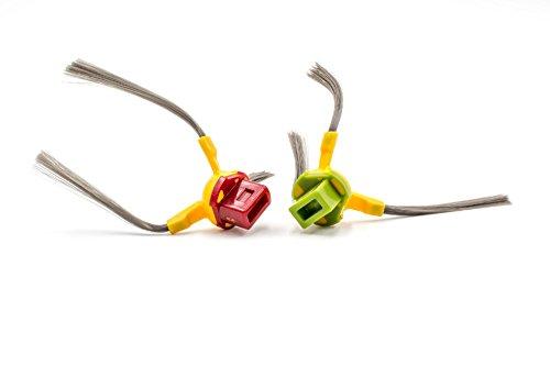vhbw 2x brosse latérale remplace Ecovacs D-S094 pour robot aspirateur - lot de brosses, gauche/droite, gris/rouge/vert/jaune