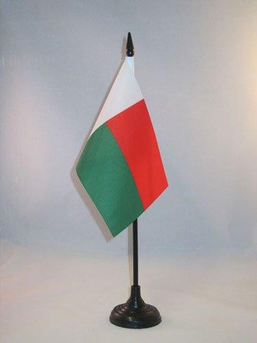 AZ FLAG Drapeau de Table Madagascar 15x10cm - Petit Drapeaux DE Bureau malgache 10 x 15 cm