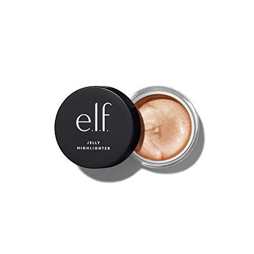 e.l.f., Jelly Highlighter, Smooth, Dewy, Versatile, Long Lasting, Illuminizing, Adds Glow, Blends Easily, Cloud - Rose Gold, Applies Wet, 0.44 Fl Oz